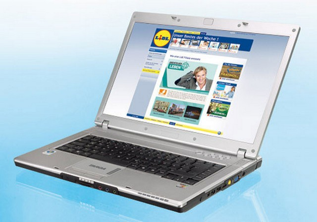 Ноутбу бу 15,4″ Targa Traveller 1576X2 Turion x2-1.6ггц/2Гб/100GB/GF 7600-128Mb/DVD-RW/Wi Fi/Web/АКБ 15мин