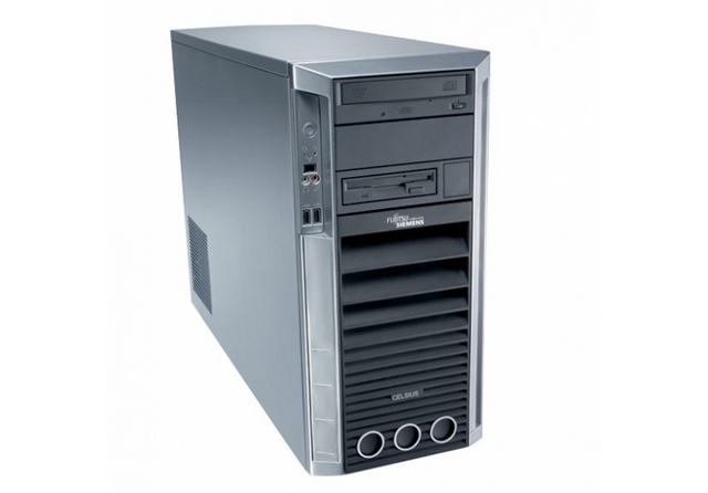 Компьютер бу Fujitsu-Siemens CelsiusW370 ATX большой корпус Intel Core2Duo E8400 3,0ггц/2GB/HDD 160GB/Intel GMA4500-1Gb/DVD/ DisPort