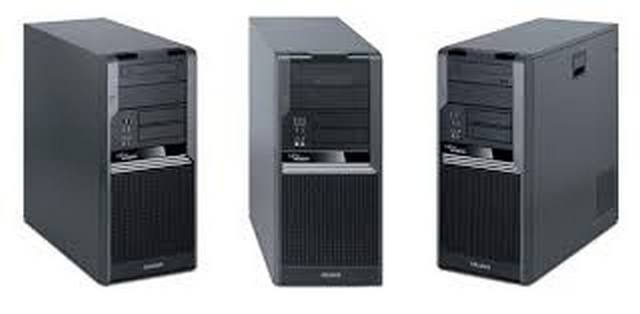 Компьютер бу Fujitsu-Siemens CelsiusW370 ATX большой корпус Intel Core2Duo E8400 3,0ггц/2GB/HDD 160GB/Intel GMA4500-1Gb/DVD/ DisPort