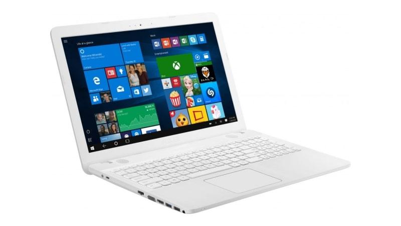 Ноутбук в белом корпусе