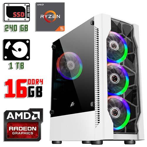 Игровой компьютер 1stPlayer D4-WH-R1 Color LED White