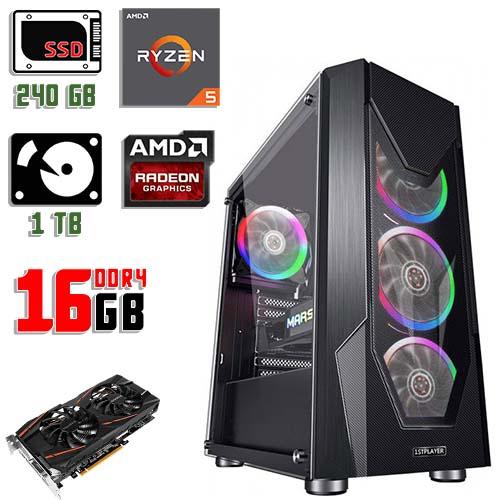 Игровой компьютер 1stPlayer D5-R1 Color LED Black